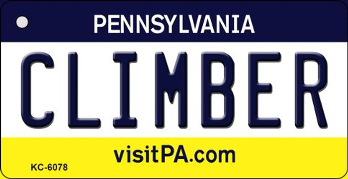 Climber Pennsylvania State License Plate Wholesale Key Chain KC-6078