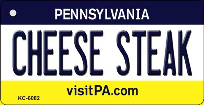 Cheese Steak Pennsylvania State License Plate Wholesale Key Chain KC-6082