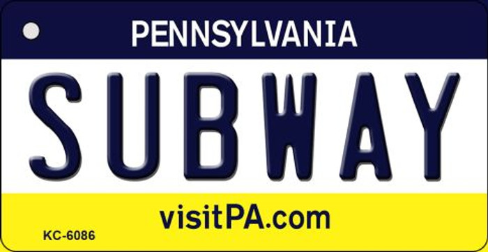 Subway Pennsylvania State License Plate Wholesale Key Chain KC-6086