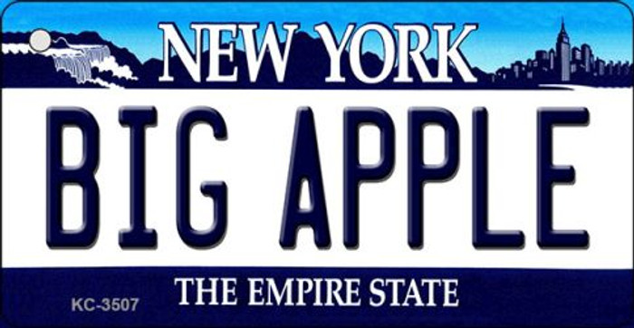 Big Apple New York State License Plate Wholesale Key Chain KC-3507