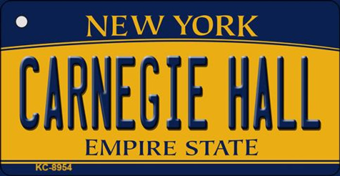 Carnegie Hall New York State License Plate Wholesale Key Chain KC-8954