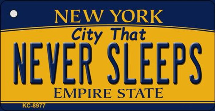 Never Sleeps New York State License Plate Wholesale Key Chain KC-8977
