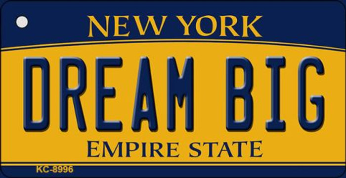 Dream Big New York State License Plate Wholesale Key Chain KC-8996