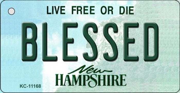 Blessed New Hampshire State License Plate Wholesale Key Chain KC-11168