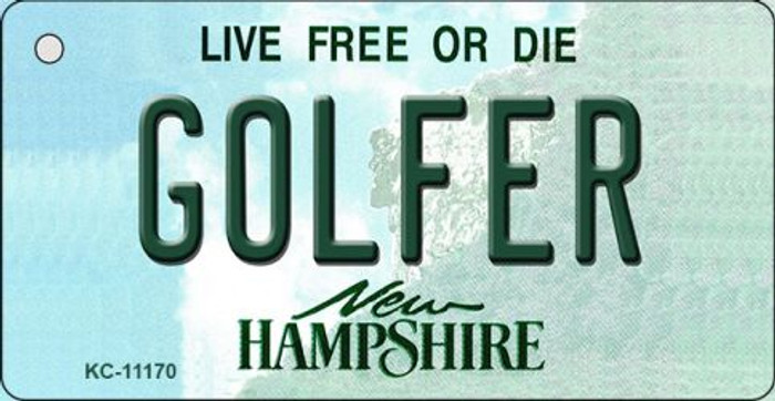 Golfer New Hampshire State License Plate Wholesale Key Chain KC-11170