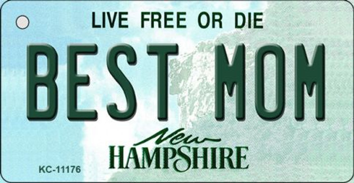Best Mom New Hampshire State License Plate Wholesale Key Chain KC-11176