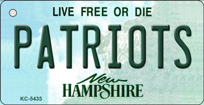 Patriots New Hampshire State License Plate Wholesale Key Chain KC-5435