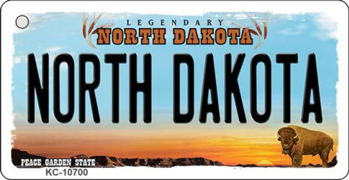 North Dakota State License Plate Wholesale Key Chain KC-10700