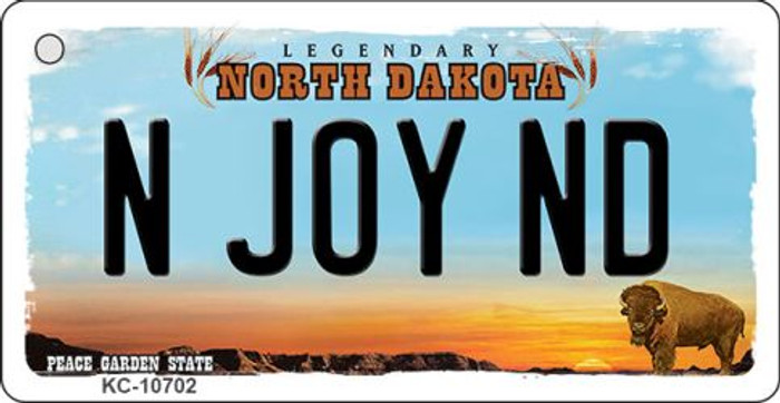 N Joy ND North Dakota State License Plate Wholesale Key Chain KC-10702