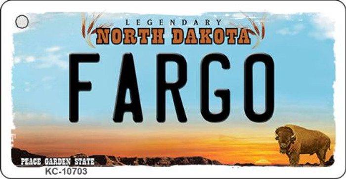 Fargo North Dakota State License Plate Wholesale Key Chain KC-10703