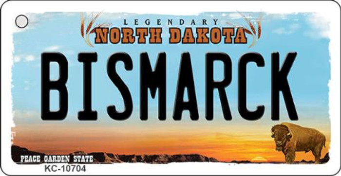 Bismarck North Dakota State License Plate Wholesale Key Chain KC-10704