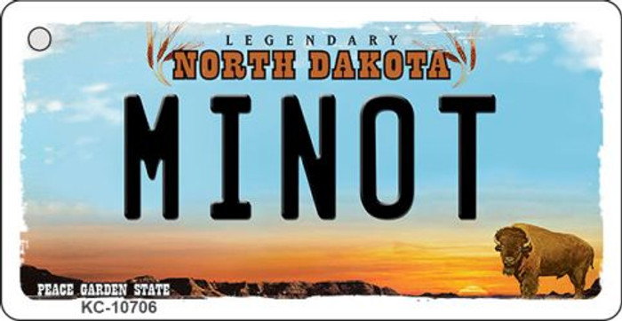 Minot North Dakota State License Plate Wholesale Key Chain KC-10706