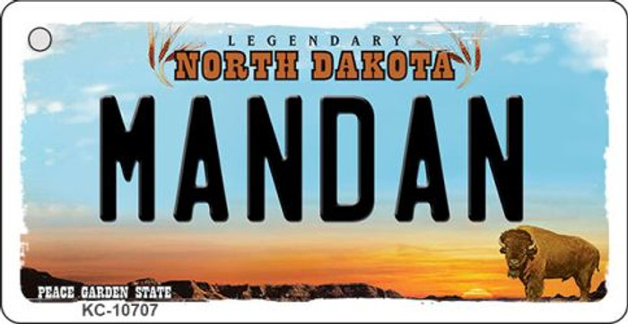 Mandan North Dakota State License Plate Wholesale Key Chain KC-10707