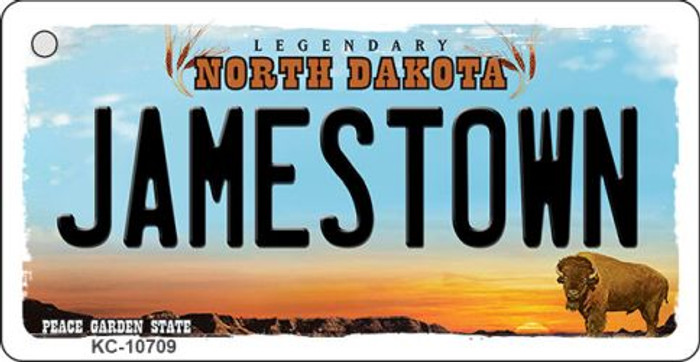 Jamestown North Dakota State License Plate Wholesale Key Chain KC-10709