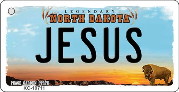 Jesus North Dakota State License Plate Wholesale Key Chain KC-10711