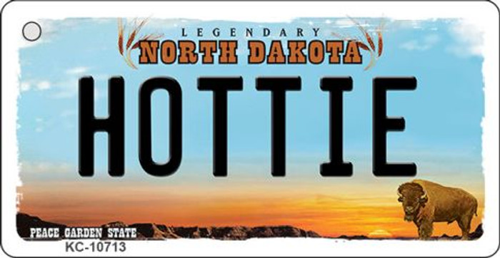 Hottie North Dakota State License Plate Wholesale Key Chain KC-10713