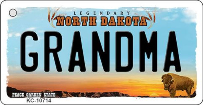 Grandma North Dakota State License Plate Wholesale Key Chain KC-10714