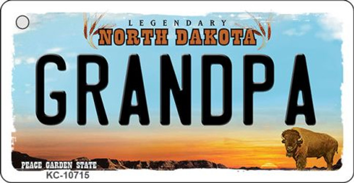 Grandpa North Dakota State License Plate Wholesale Key Chain KC-10715