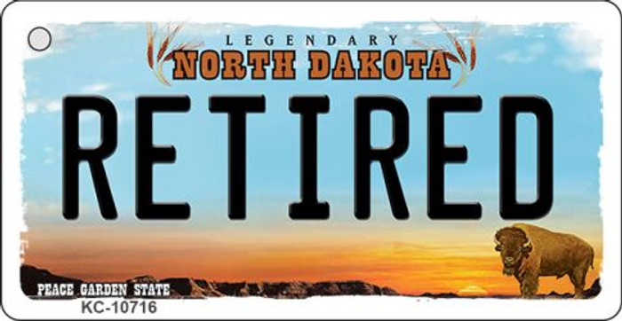Retired North Dakota State License Plate Wholesale Key Chain KC-10716