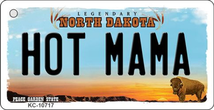 Hot Mama North Dakota State License Plate Wholesale Key Chain KC-10717