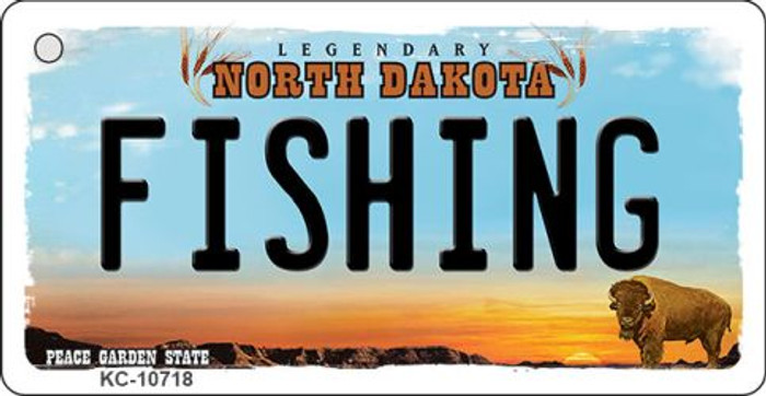 Fishing North Dakota State License Plate Wholesale Key Chain KC-10718