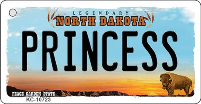Princess North Dakota State License Plate Wholesale Key Chain KC-10723