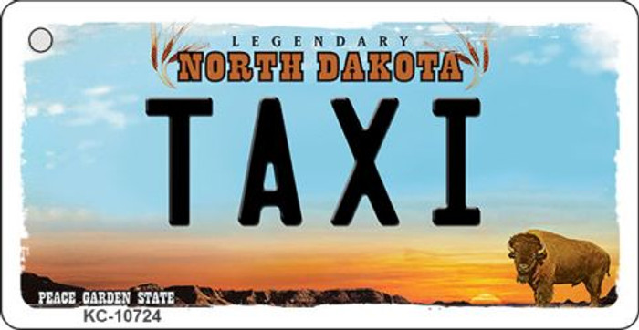 Taxi North Dakota State License Plate Wholesale Key Chain KC-10724