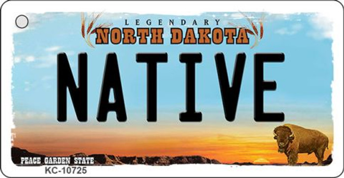 Native North Dakota State License Plate Wholesale Key Chain KC-10725