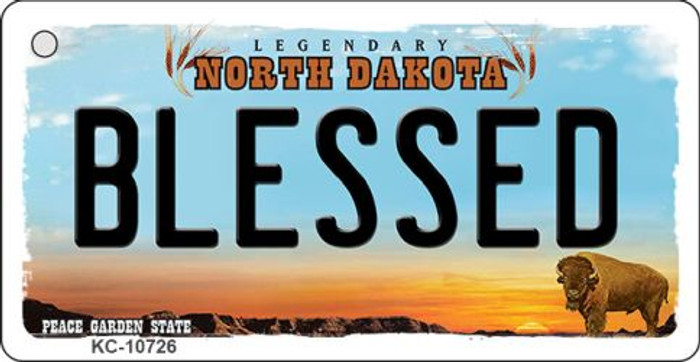 Blessed North Dakota State License Plate Wholesale Key Chain KC-10726