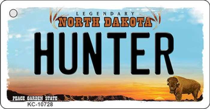 Hunter North Dakota State License Plate Wholesale Key Chain KC-10728