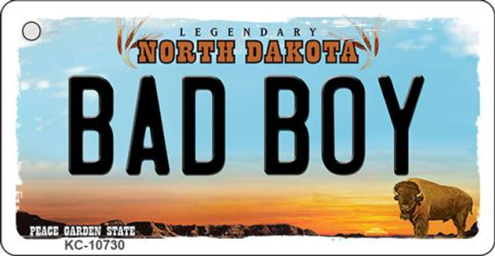 Bad Boy North Dakota State License Plate Wholesale Key Chain KC-10730