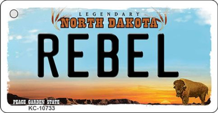 Rebel North Dakota State License Plate Wholesale Key Chain KC-10733