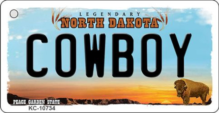 Cowboy North Dakota State License Plate Wholesale Key Chain KC-10734