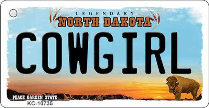 Cowgirl North Dakota State License Plate Wholesale Key Chain KC-10735