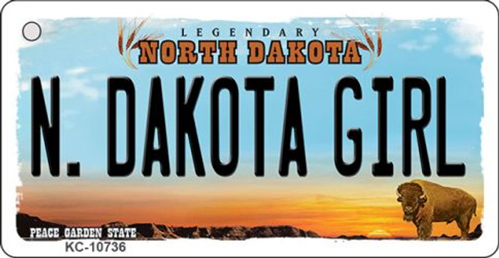 N Dakota Girl State License Plate Wholesale Key Chain KC-10736