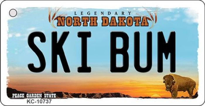 Ski Bum North Dakota State License Plate Wholesale Key Chain KC-10737