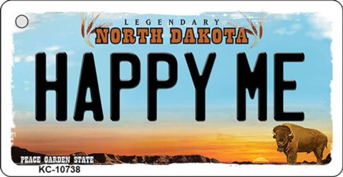 Happy Me North Dakota State License Plate Wholesale Key Chain KC-10738