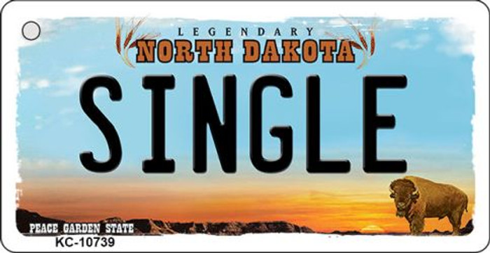Single North Dakota State License Plate Wholesale Key Chain KC-10739