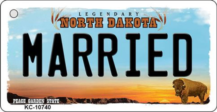 Married North Dakota State License Plate Wholesale Key Chain KC-10740
