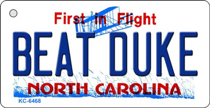 Beat Duke North Carolina State License Plate Wholesale Key Chain KC-6468