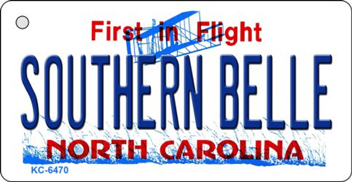 Southern Belle North Carolina State License Plate Wholesale Key Chain KC-6470