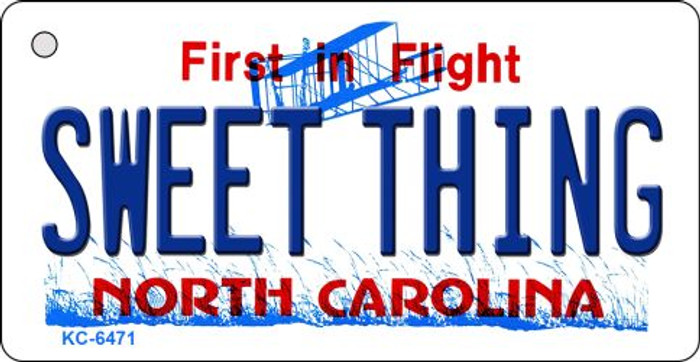 Sweet Thing North Carolina State License Plate Wholesale Key Chain KC-6471