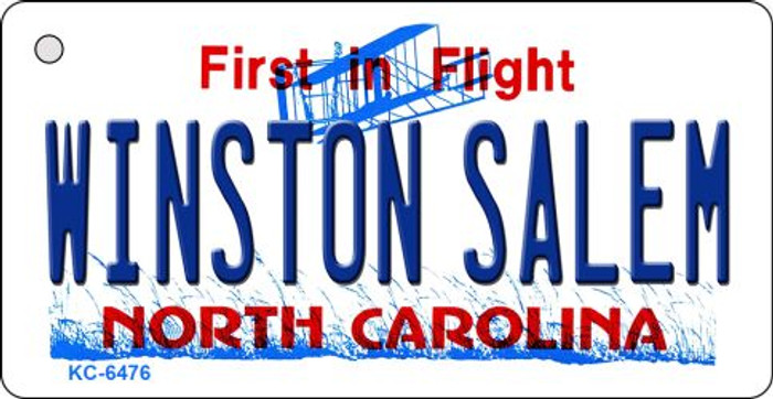 Winston Salem North Carolina State License Plate Wholesale Key Chain KC-6476