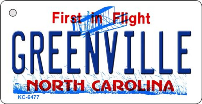 Greenville North Carolina State License Plate Wholesale Key Chain KC-6477