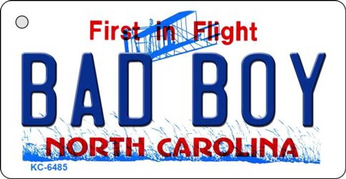 Bad Boy North Carolina State License Plate Wholesale Key Chain KC-6485