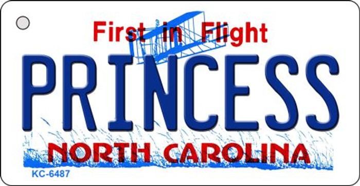 Princess North Carolina State License Plate Wholesale Key Chain KC-6487