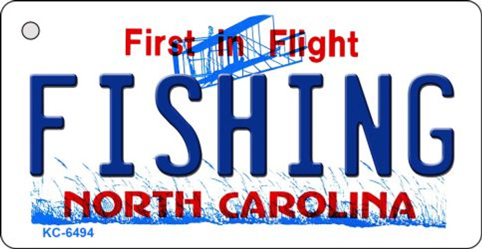 Fishing North Carolina State License Plate Wholesale Key Chain KC-6494