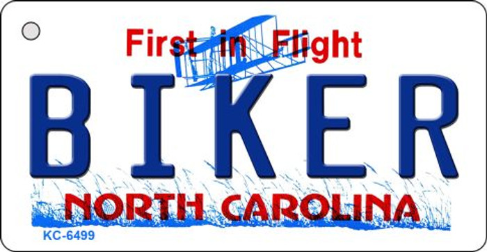 Biker North Carolina State License Plate Wholesale Key Chain KC-6499