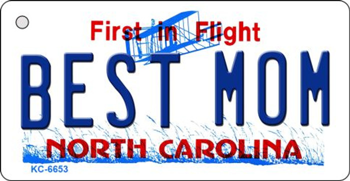 Best Mom North Carolina State License Plate Wholesale Key Chain KC-6653