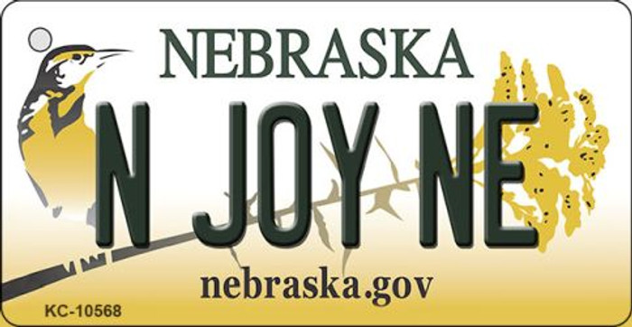 N Joy NE Nebraska State License Plate Novelty Wholesale Key Chain KC-10568